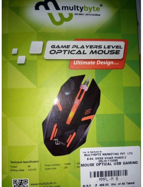 MULTYBYTE GAMING MOUSE M6