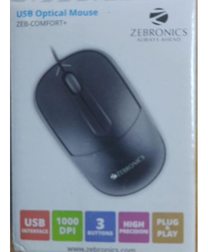 ZEBRONICS USB MOUSE ZEB COMFORT+