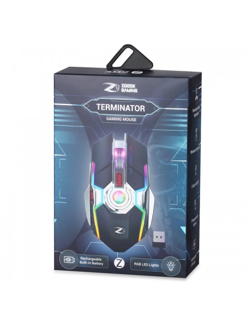 ZOOOK GAMING MOUSE WIRELESS (TERMINATOR) RECHARGABLE