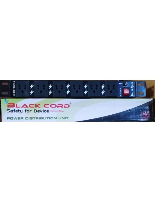 BLACK CORD RACK PDU 6 SOCKET