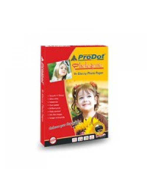PRODOT GLOSSY PAPER 180 GSM 4 X 6 (50 SHEETS)