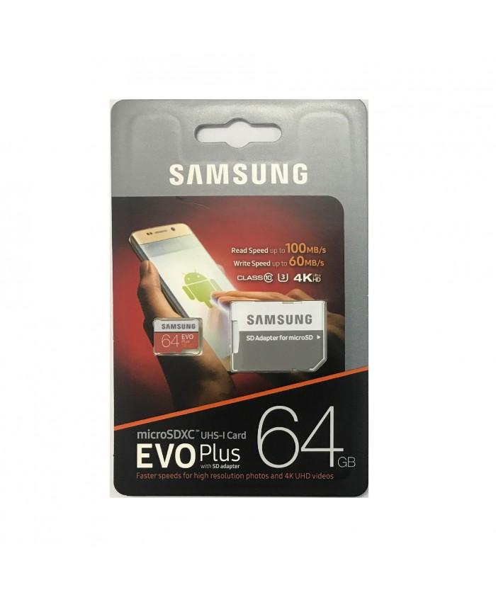 SAMSUNG MICRO SD 64 GB MEMORY CARD CLASS 10