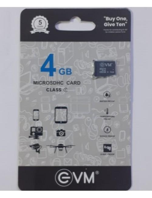 EVM MICRO SD 4GB MEMORY CARD CLASS6