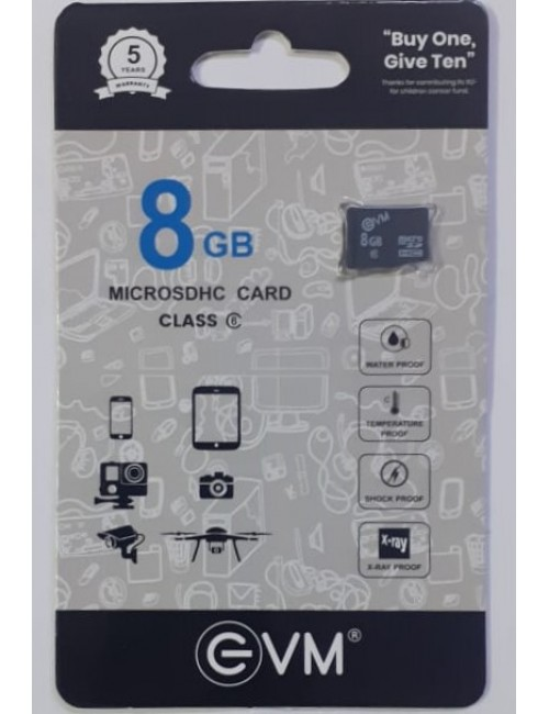 EVM MICRO SD 8GB MEMORY CARD CLASS6