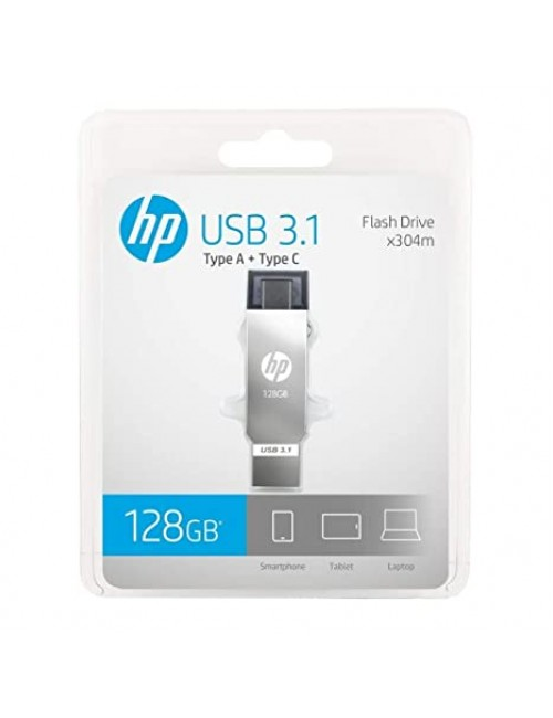 HP PENDRIVE 128GB OTG TYPE C (X304M) 3.1 USB