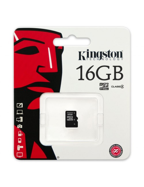 KINGSTON MICRO SD 16GB MEMORY CARD CLASS 4