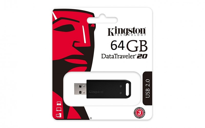 KINGSTON PENDRIVE 64GB 2.0 (DT20)