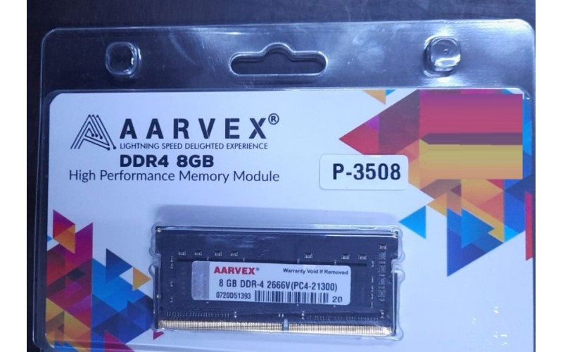 AARVEX RAM 8GB DDR4 LAPTOP 2666 MHz
