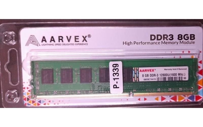 AARVEX RAM 8GB DDR3 DESKTOP 1600MHZ