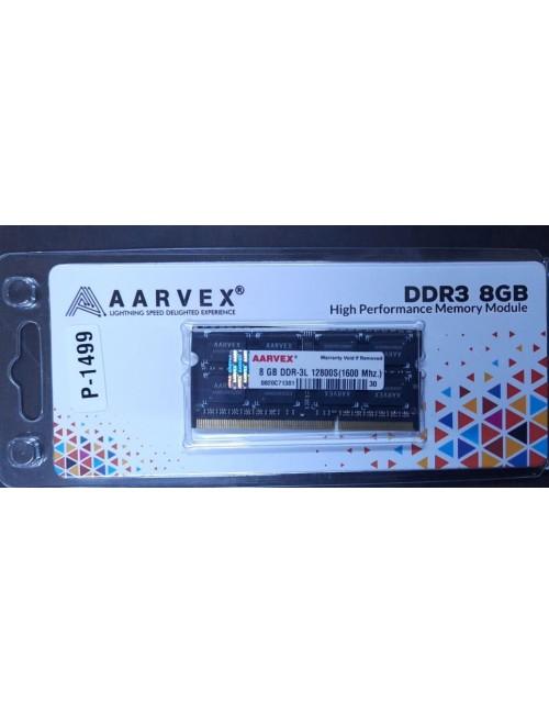 AARVEX RAM 8GB DDR3 LAPTOP 1600MHZ