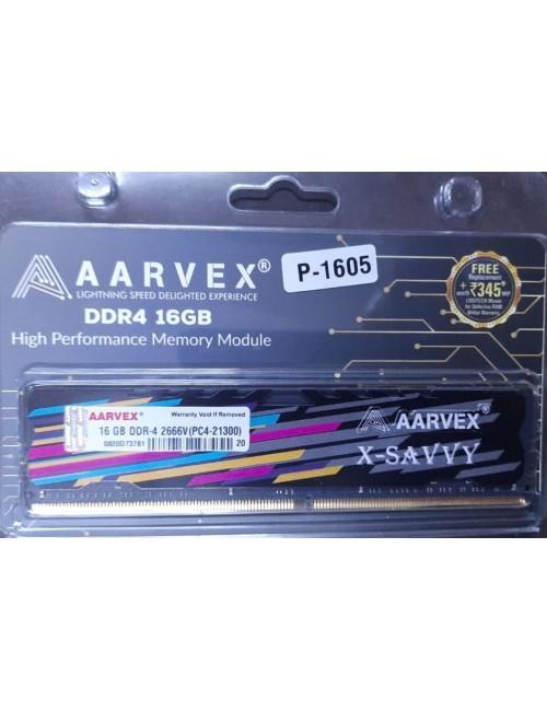 AARVEX RAM 16GB DDR4 DESKTOP 2666 MHz (X SAVVY)