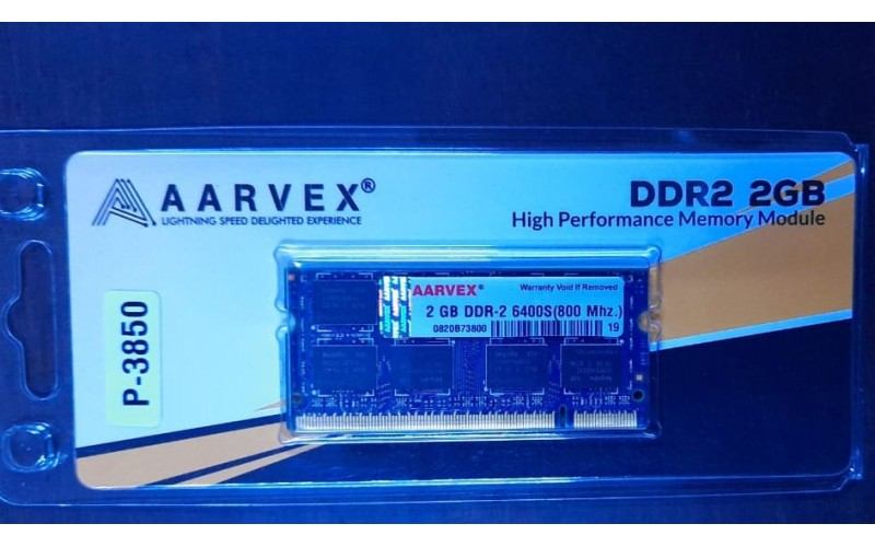 AARVEX RAM 2GB DDR2 LAPTOP 800 MHz