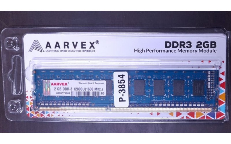 AARVEX RAM 2GB DDR3 DESKTOP 1600 MHz (BIG PCB)