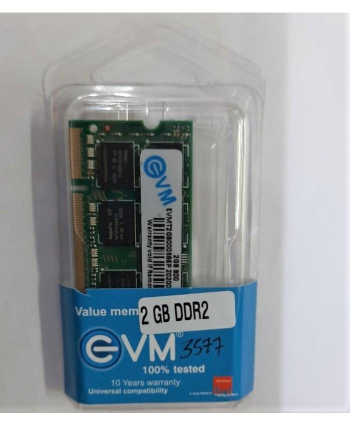 EVM RAM 2GB DDR2 LAPTOP 677 MHz