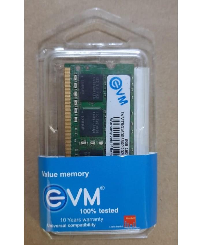 EVM RAM 8GB DDR3 LAPTOP 1600 MHz