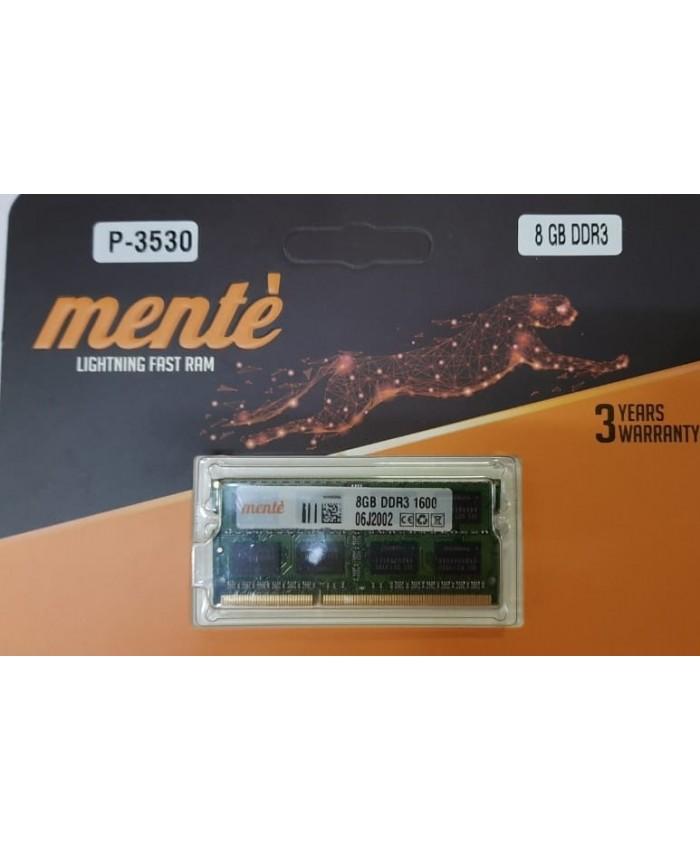 MENTE RAM 8GB DDR3 LAPTOP 1600 MHZ
