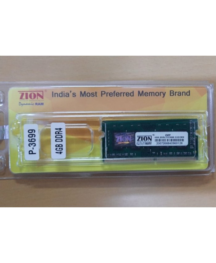 ZION RAM 4GB DDR4 LAPTOP 2666 MHZ