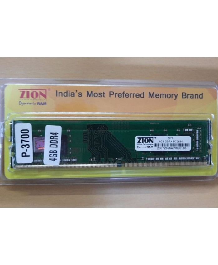 ZION RAM 4GB DDR4 DESKTOP 2666 MHZ