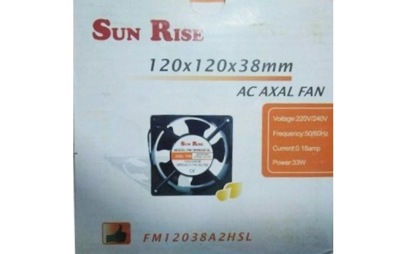 """SUNRISE RACK FAN 4"""" WITH LEAD AND HARDWARE"""