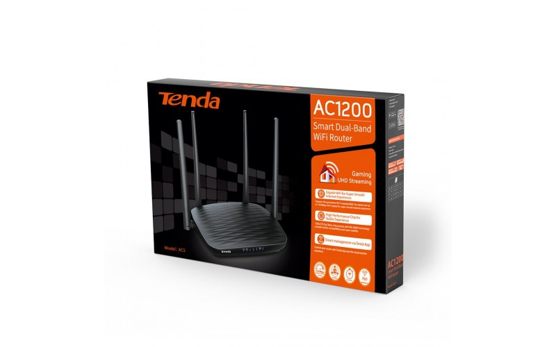 TENDA WIRELESS DUAL BAND ROUTER 1200 MBPS AC5