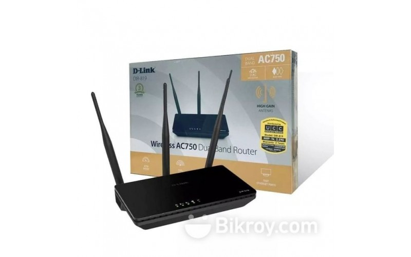 D LINK 750 MBPS WIRELESS DUAL BAND ROUTER DIR 819