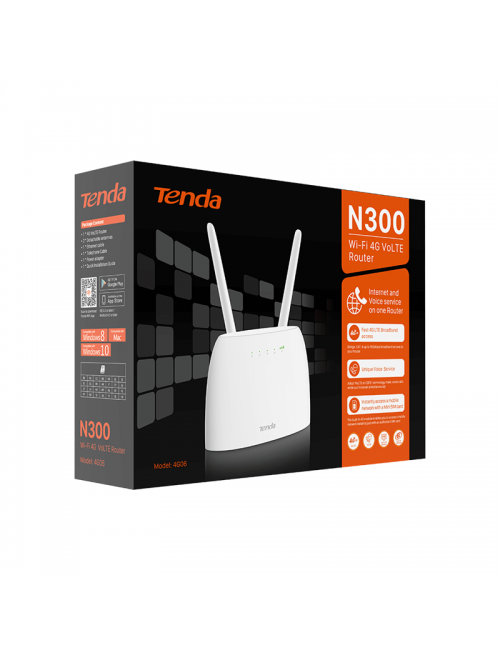 TENDA SIM ROUTER 4G06 LTE VOLTE (300 MBPS) WITH PHONE PORT