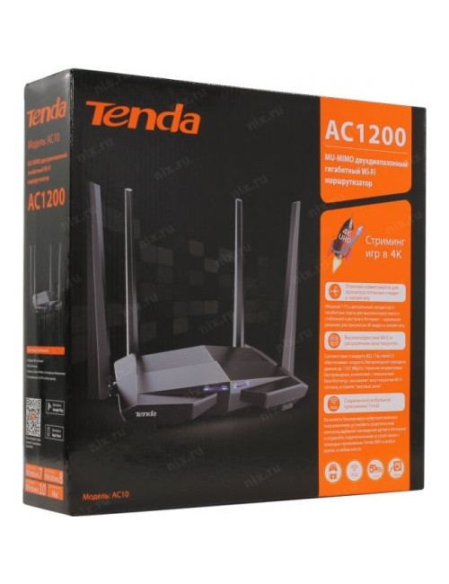 TENDA WIRELESS DUAL BAND GIGA ROUTER 1200 MBPS AC10