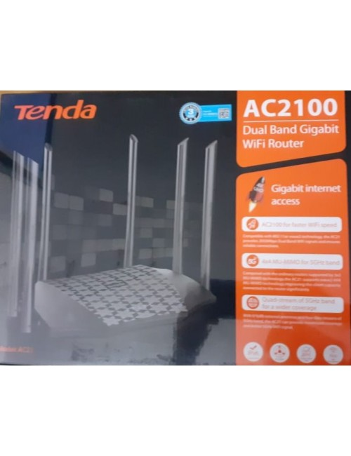 TENDA WIRELESS DUAL BAND GIGA W/L ROUTER 2100 MBPS AC21