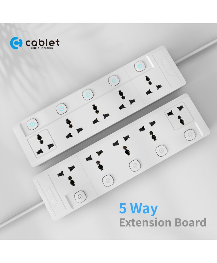 CABLET SPIKE 5 SOCKET 5 SWITCH 4.5M