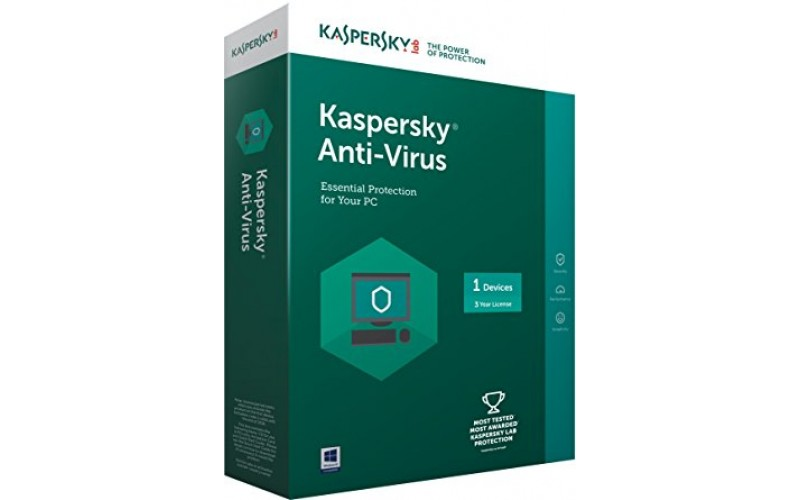 KASPERSKY ANTIVIRUS 1 USER / 1 YEAR
