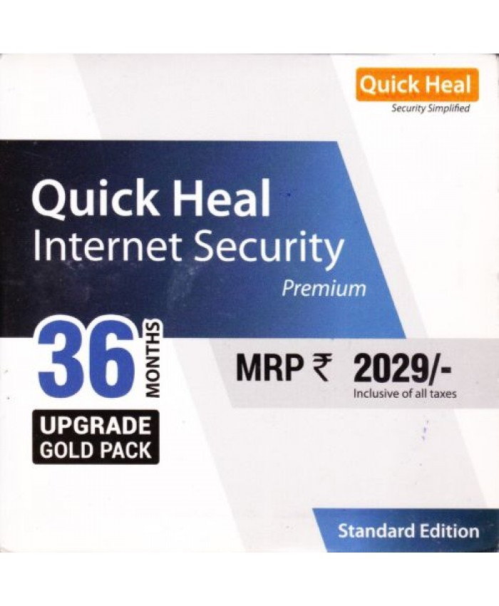 QUICK HEAL INTERNET SECURITY RENEWAL IS1UP (1 USER 3 YEAR)