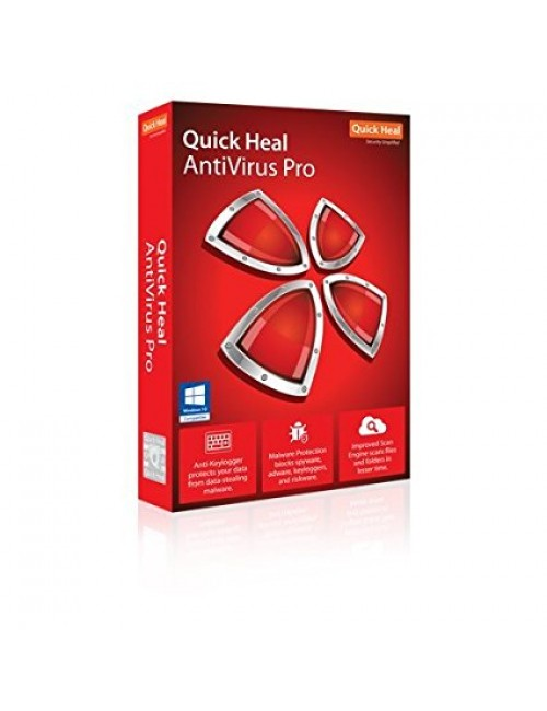 QUICK HEAL ANTIVIRUS PRO LR1 (1 USER 1 YEAR)