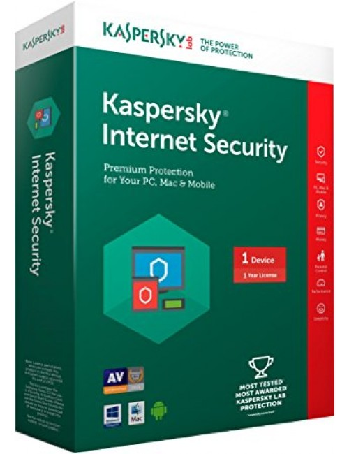 KASPERSKY INTERNET SECURITY 1 USER / 1 YEAR