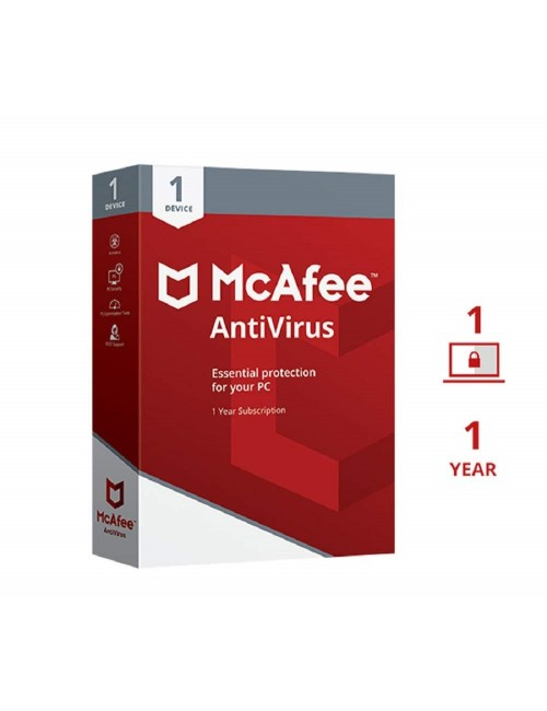 MCAFEE ANTIVIRUS 1 USER / 1 YEAR