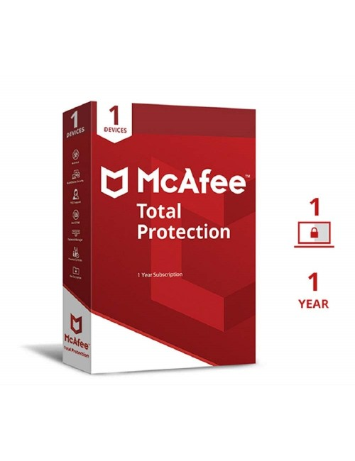 MCAFEE TOTAL PROTECTION 1 USER / 1 YEAR