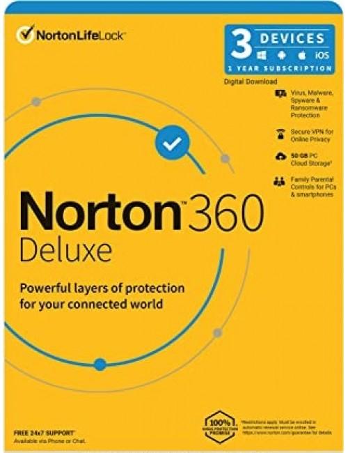 NORTON 360 DELUXE 3 USER 1 YEAR