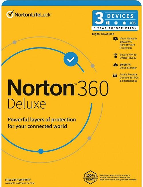NORTON 360 DELUXE 3 USER 3 YEAR