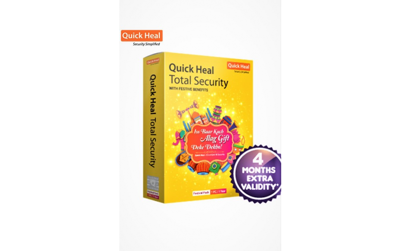 QUICK HEAL TOTAL SECURITY TR1 (1 USER 1 YEAR + 4 MONTH)