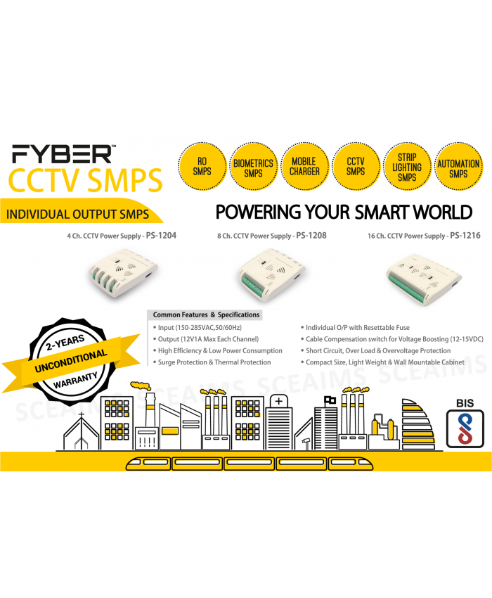 FYBER POWER SUPPLY 8CH (FYUS-61)