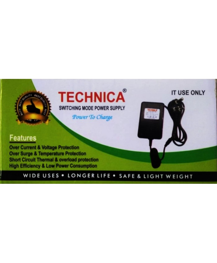 TECHNICA ADAPTER 12V/3A (1 YEAR)
