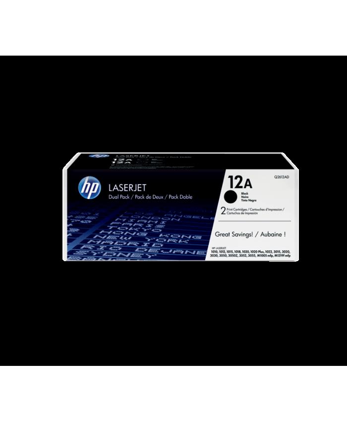 HP TONER CARTRIDGE LASER JET 12A / 2612A BLACK SINGLE DF (ORIGINAL)