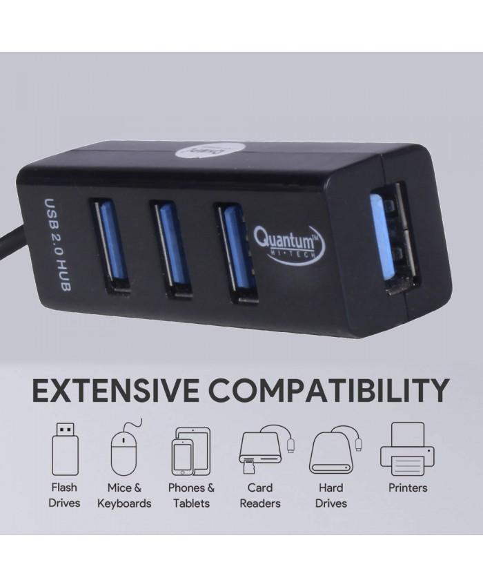 QUANTUM USB HUB 4 PORT 2.0 QHM6642