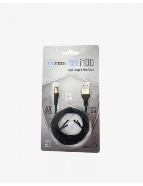ZOOOK USB TO IPHONE CHARGER CABLE (i100)